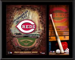 "Cincinnati Reds Sublimated 12"" x 15"" Team Logo Plaque"