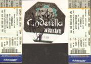 Cinderella Autographed Backstage Pass Signed UACC RD COA AFTAL