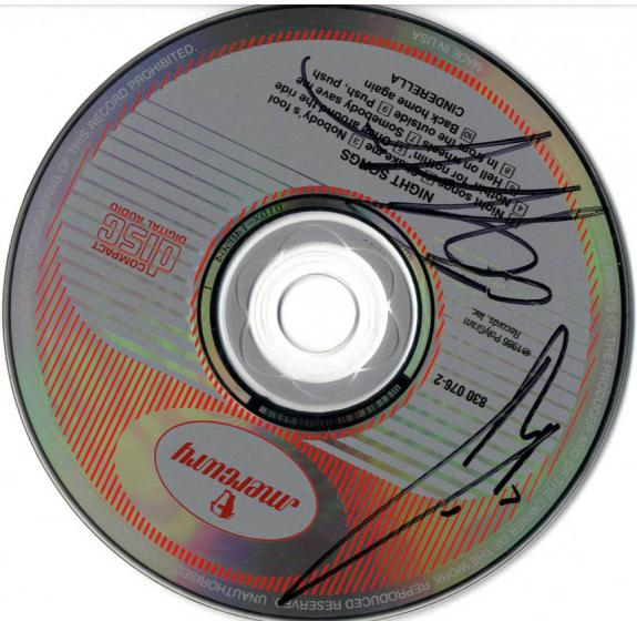 Cinderella Autographed Signed Night Songs CD UACC RD COA AFTAL