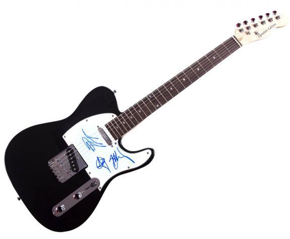 Cinderella Autographed Signed x3 Tele Guitar AFTAL