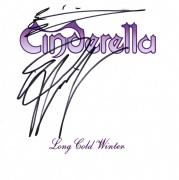 Cinderella Autographed X2 Signed Long Cold Winter CD Cover UACC RD COA AFTAL
