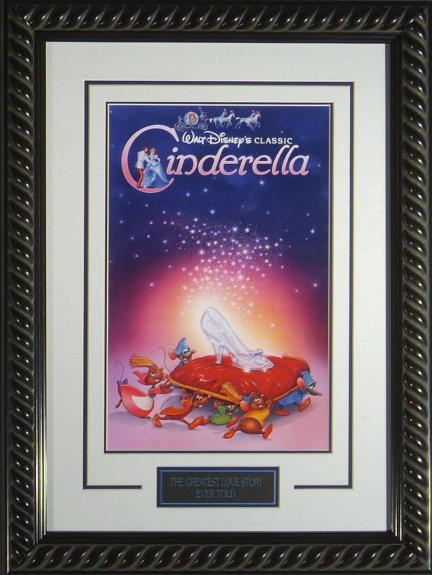 "Disney's Cinderella Framed 11x17"" Publicity Movie"
