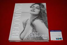 Cindy Crawford signed PSA/DNA Becoming first 1st HC book Playboy supermodel