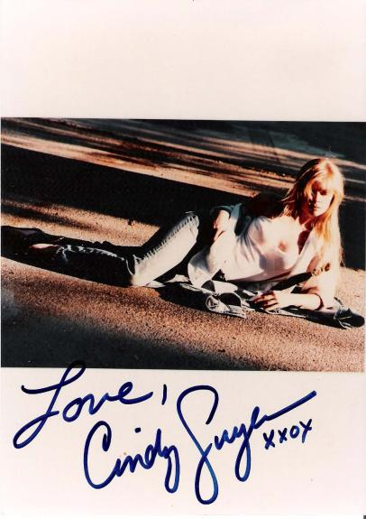 CINDY GUYER (MODEL/ACTRESS) Cover Model for NANCY DREW ROMANCE NOVELS Signed 5x7 Color Photo