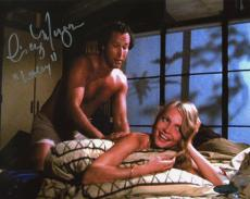 Cindy Morgan Autographed Caddyshack in Bed with Ty Webb 8x10 Photo Inscribed Lacey
