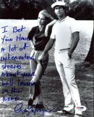 Cindy Morgan Caddyshack Signed 8X10 Photo w/ Chevy Chase PSA/DNA 11