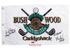 Cindy Morgan & Michael O'Keefe Autographed Bushwood Golf Flag Inscribed Lacey & Noonan