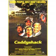 """Cindy Morgan Michael Okeefe Dual Signed 23x35.5 CaddyShack Movie Poster w/ """"Lacey Noonan"""" Insc."""