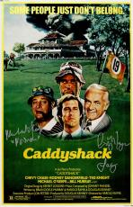 Cindy Morgan & Michael O'Keefe Dual Signed Caddyshack 11x17 Movie Poster w/Character Names