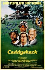 Cindy Morgan & Michael O'Keefe Dual Signed Caddyshack 11x17 Movie Poster w/Lacey Underall & Noonan