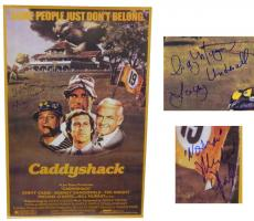 Cindy Morgan & Michael O'Keefe Dual Signed Caddyshack Full Size 24x36 Movie Poster w/Lacey Underall & Noonan