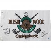 "Cindy Morgan/Michael O'Keefe Dual Signed CaddyShack Golf Pin Flag w/ ""Lacey Noonan"" Insc."
