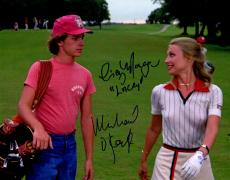 Cindy Morgan & Michael O'Keefe Dual Signed Caddyshack Walking Golf Course 11x14 Photo w/Lacey