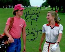 Cindy Morgan & Michael O'Keefe Dual Signed Caddyshack Walking Golf Course 8x10 Photo w/Lacey