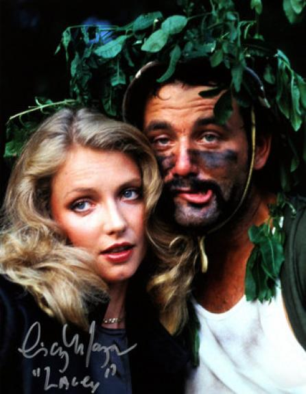 """Cindy Morgan signed Caddyshack 16x20 Photo Inscribed """"Lacey"""" w/ Bill Murray Helmet pose (entertainment)"""