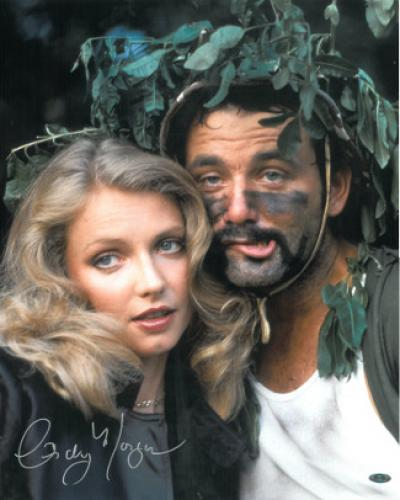 Cindy Morgan signed Caddyshack 16x20 Photo w/ Bill Murray Helmet Pose (entertainment)- Steiner Hologram