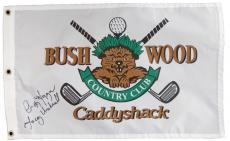 Cindy Morgan Signed Caddyshack Beaver Logo Bushwood Flag w/Lacey Underall