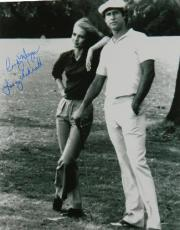 "Cindy Morgan signed Caddyshack B&W 16x20 Photo ""Lacey Underall"" w/ Chevy Chase (entertainment)"