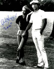 Cindy Morgan Signed Caddyshack B&W Standing With Chevy Chase 11x14 Photo w/Lacey