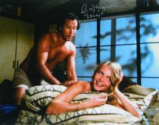 Cindy Morgan Signed Caddyshack On Bed With Chevy Chase 16x20 Photo w/Lacey