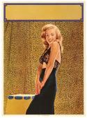 "Circa 1950's Marilyn Monroe ""Vivacious"" Original Pin Up Litho Poster, 16 x 20"