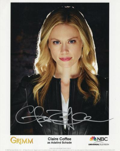 CLAIRE COFFEE HAND SIGNED 8x10 COLOR PHOTO+COA    STUNNING+SEXY ACTRESS    GRIMM