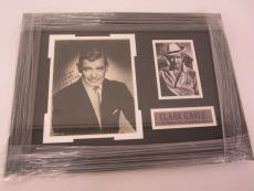 Clark Gable Gone With the Wind signed autographed framed matted 8x10 photo PSA