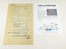 Clark Gable Signed 1942 Carole Lombard Estate Document  PSA/DNA Auto