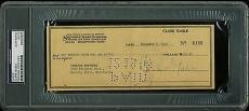 Clark Gable Signed 3.25x8.25 December 7, 1948 Check PSA/DNA Slabbed
