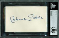 Clark Gable Signed 3x5 Index Card Auto Graded Mint 9! BAS Slabbed