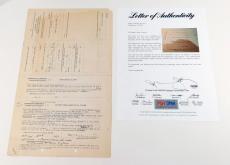 Clark Gable Signed Estate Claim PSA/DNA Auto