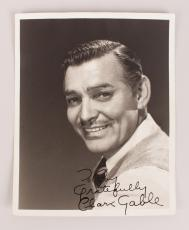 Clark Gable Signed & Inscribed ( Gratefully) 8×10 B&W Photo -Signed In Person-Roy Moseley Collection