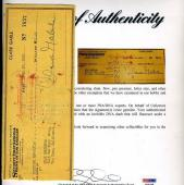 Clark Gable Signed Psa/dna Certed 1950 Check Authentic Autograph