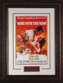 Clark Gable unsigned Gone With the Wind Vintage Movie Poster Leather Framed 20x28 (entertainment/photo)