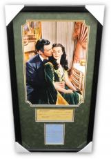 Clark Gable Vivien Leigh Hand Signed Auto Collage Gone WIth The Wind  JSA Letter
