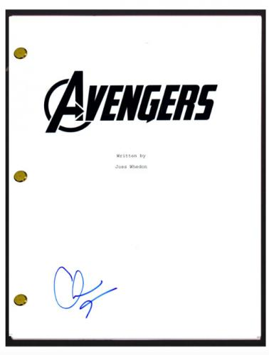 Clark Gregg Signed Autographed THE AVENGERS Movie Screenplay Script COA