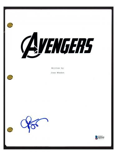 Clark Gregg Signed Autographed THE AVENGERS Movie Script Beckett BAS COA