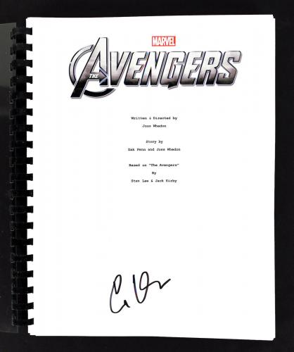 Clark Gregg Signed The Avengers Movie Script Autographed BAS #E44391