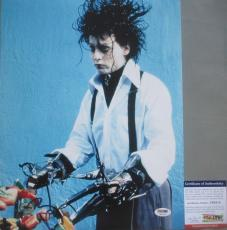 CLASSIC!!! Johnny Depp Signed EDWARD SCISSORHANDS 11x14 Photo PSA/DNA