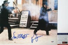CLASSIC!!! Kurt Russell Sam Elliott Signed TOMBSTONE 11x14 Photo PSA/DNA Wyatt