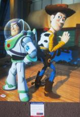 CLASSIC PIXAR!!! Tim Allen Tom Hanks Signed TOY STOY 16x20 Photo PSA Buzz Woody