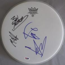 CLASSIC!!! SOUNDGARDEN Band Signed 10in Drumhead CHRIS CORNELL +3 PSA/DNA LOA