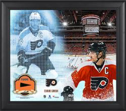 Claude Giroux Philadelphia Flyers Framed 15'' x 17'' Mosaic Collage with Piece Of Game-Used Puck-Limited Edition of 99