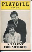 Claudette Colbert Jean-Pierre Aumont A Talent For Murder Sept 1981 Playbill
