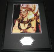 Claudette Colbert Signed Framed 16x20 Photo Poster Display JSA Cleopatra