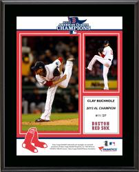 Clay Buchholz Boston Red Sox 2013 American League Champions Sublimated 10.5'' x 13'' Plaque - Mounted Memories