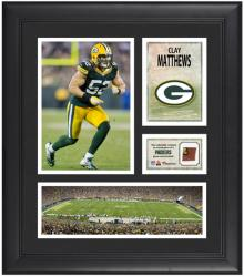 "Clay Matthews Green Bay Packers Framed 15"" x 17"" Collage with Game-Used Football"
