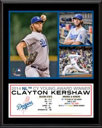 "Clayton Kershaw Los Angeles Dodgers 2014 National League Cy Young Award 12"" x 15"" Sublimated Plaque"
