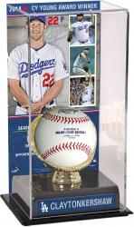 Clayton Kershaw Los Angeles Dodgers 2014 National League Cy Young Award Gold Glove with Image Display Case