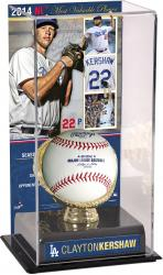 Clayton Kershaw Los Angeles Dodgers 2014 National League MVP Gold Glove with Image Display Case
